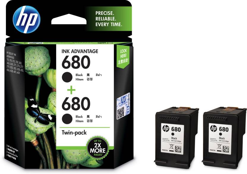 HP 680 Twin Pack Single Color Ink Cartridge Price in Chennai, Hyderabad, Telangana