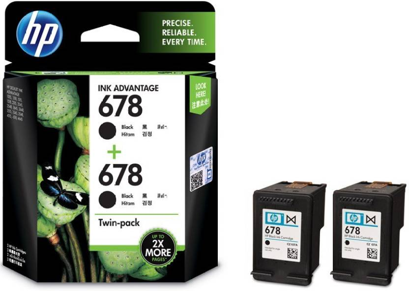 HP 678 Twin Pack Single Color Ink Cartridgev Price in Chennai, Hyderabad, Telangana