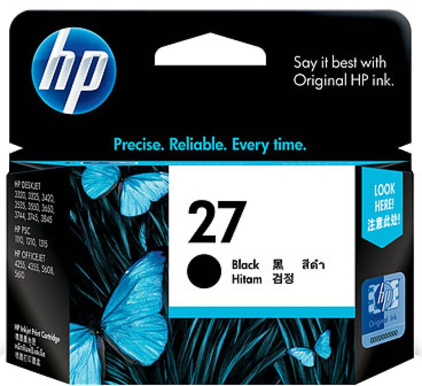 HP 27 Black Ink Cartridge Price in Chennai, Hyderabad, Telangana