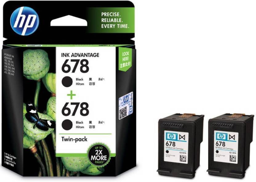 HP 678 Twin Pack Single Color Ink Cartridge Single Color Ink Cartridge Price in Chennai, Hyderabad, Telangana